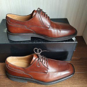 Magnanni antic leather men casual shoes mid-brown
